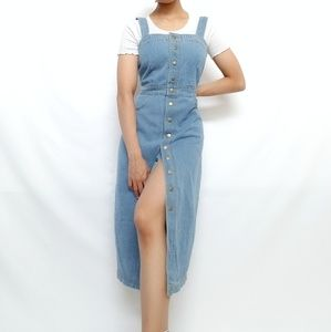 Dresses & Skirts - Button front overall denim dress